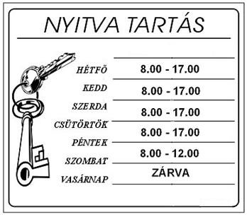 opening hours in Hungarian