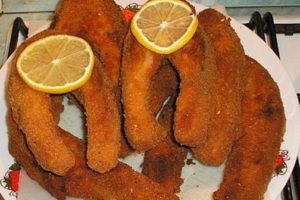 rántotthal - fried fish in Hungarian